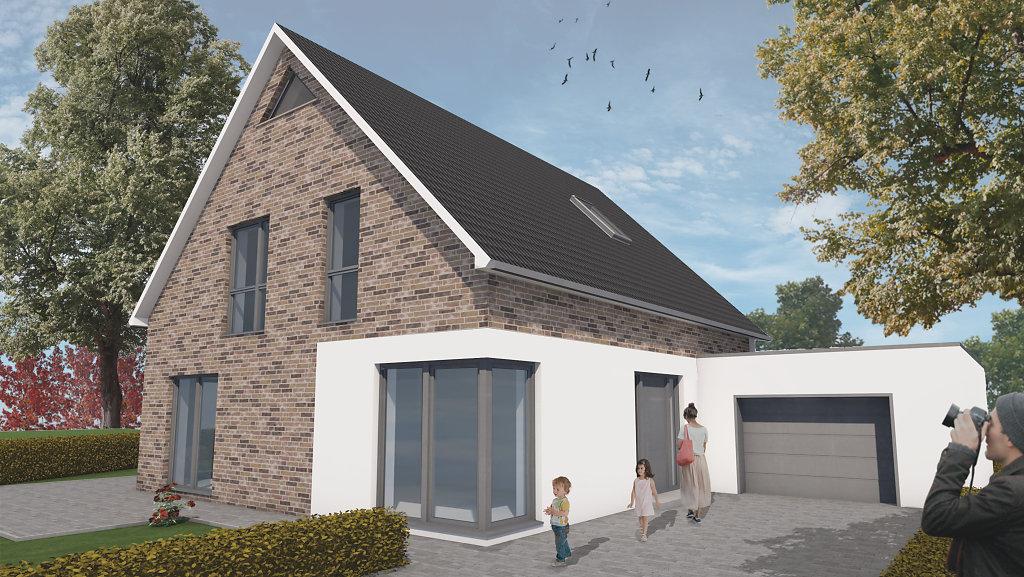 EInfamilienhaus - Straßenperspektive