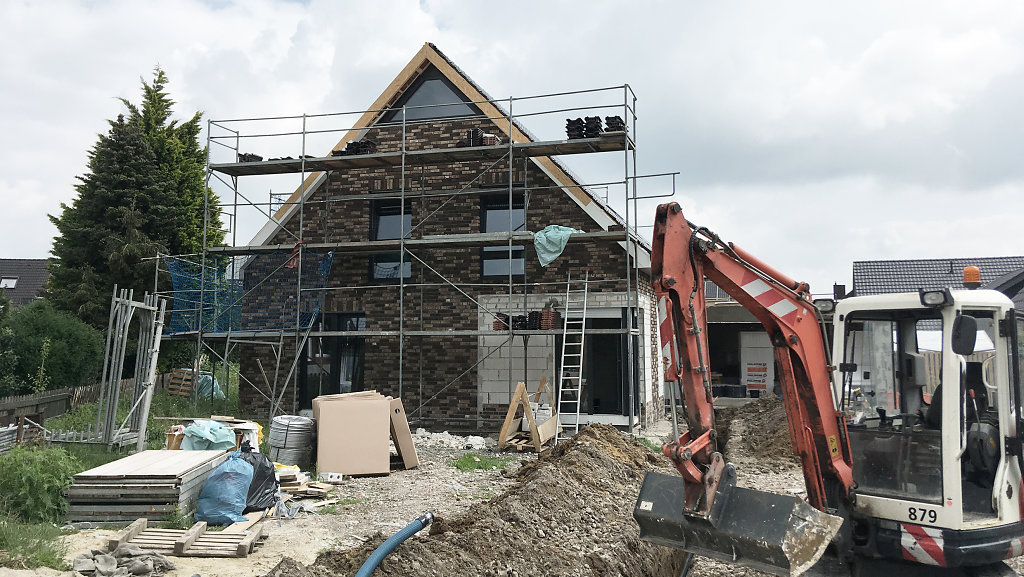 06.2018 - Baufortschritt eines Einfamilienhauses