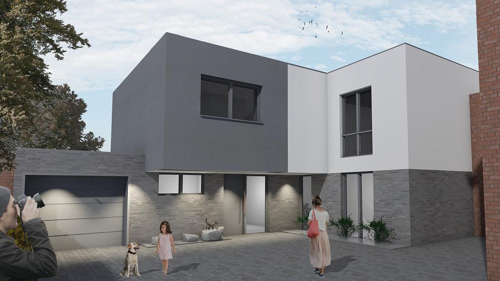 09.2018 An- und Neubau eines Einfamilienhauses in Münster