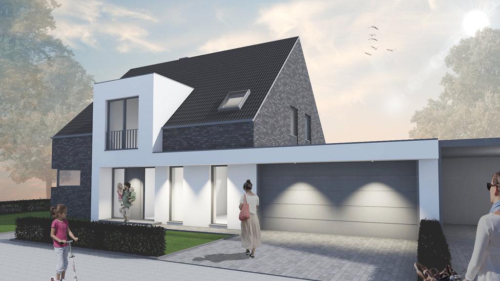 12.2018 Entwurf eines modernen Einfamilienhauses in Nordwalde