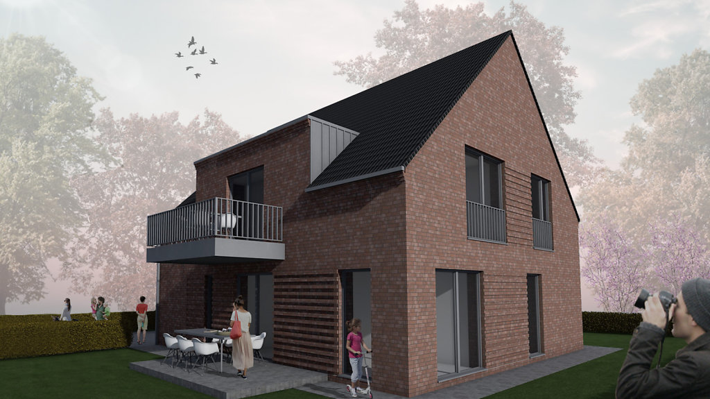 11.2018 Entwurf eines modernen Einfamilienhauses mit Einliegerwohnung in Nordwalde
