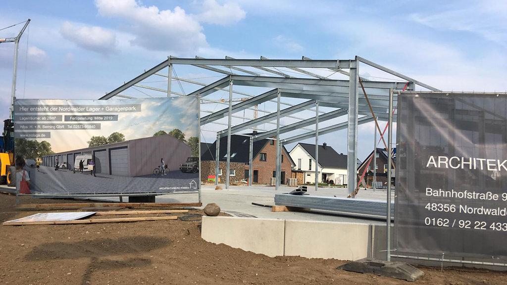 05.2019 Baufortschritt des Lager- und Garagenparks in Nordwalde