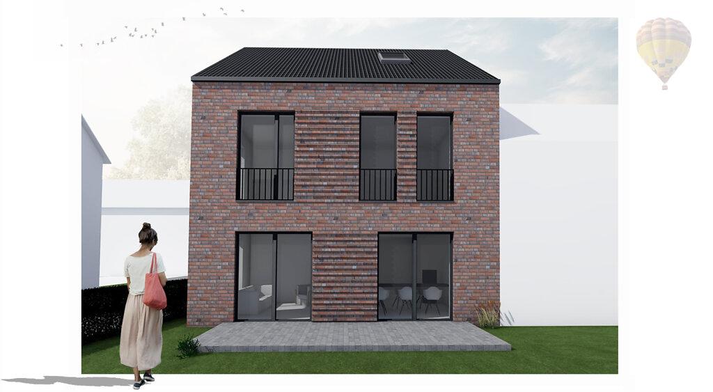 Anbau eines Einfamilienhauses in Münster