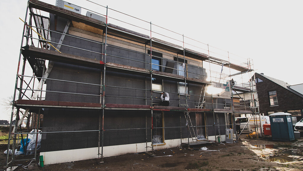 Anbringen der Fassadendämmung