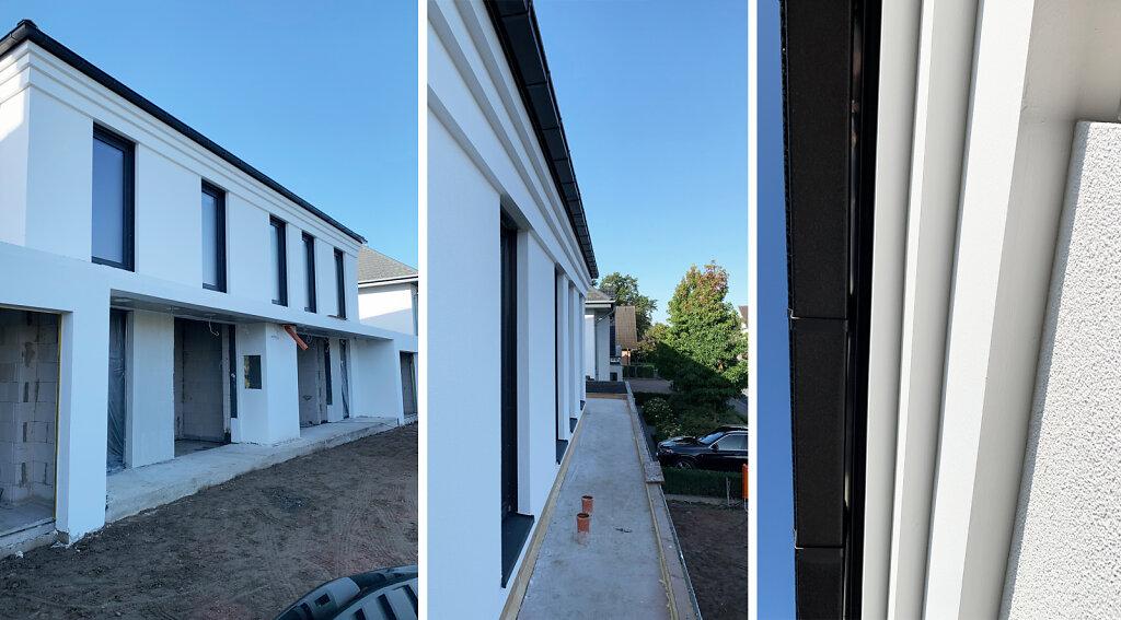 Doppelhaus - Baufortschritt - Putzfassade