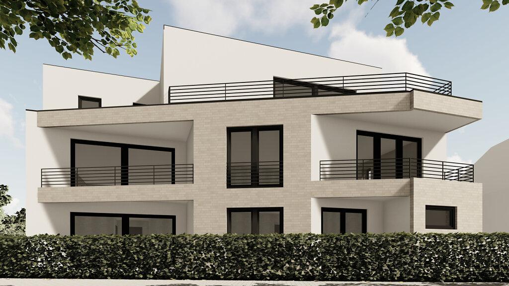 Mehrfamilienhaus GH - Gartenperspektive