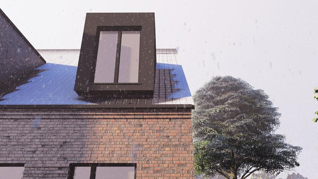 Haus W - Detail Gaube