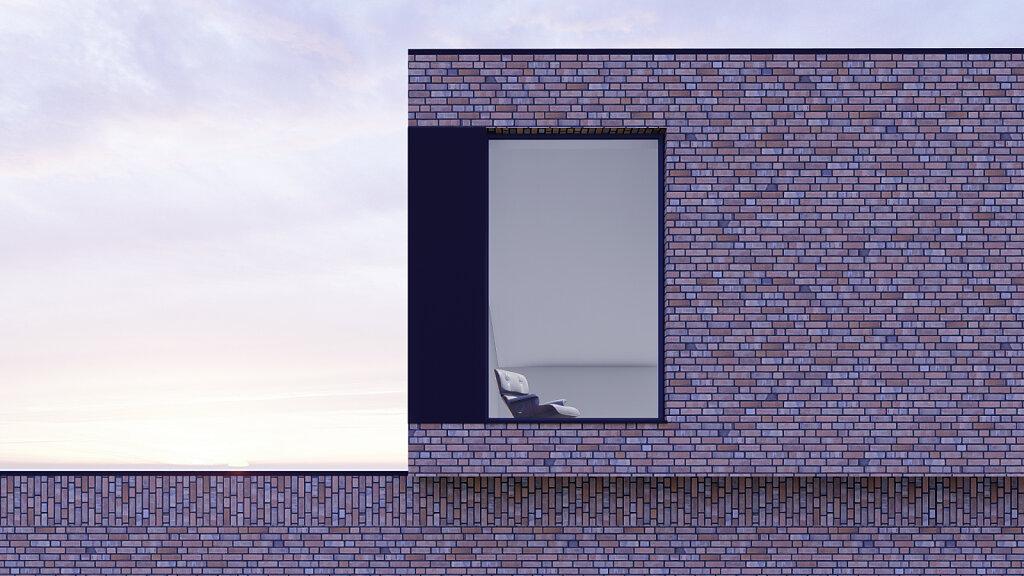 Villa S - Detail Fassade Klinker
